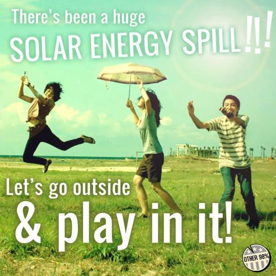 PSA: Huge Solar Spill